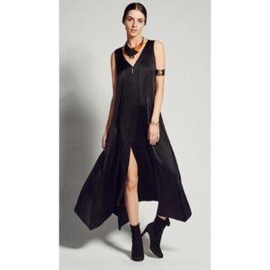 Calypso St Barth Black Silk Sleeveless Maxi Dress